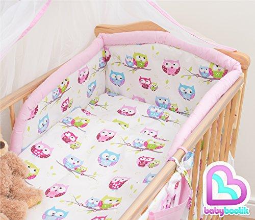Baby Comfort Kit d'accessoires pour bébé, pour lit bébé de 140 x 70 x cm, 5 pièces, design n ° 23