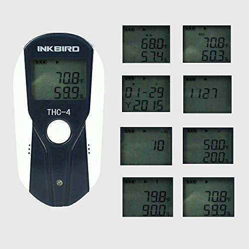 Inkbird USB Temperature and Humidity Data Logger, LCD Display, 16000 Points Data, Thermometer Hygrometer w/External Sensor