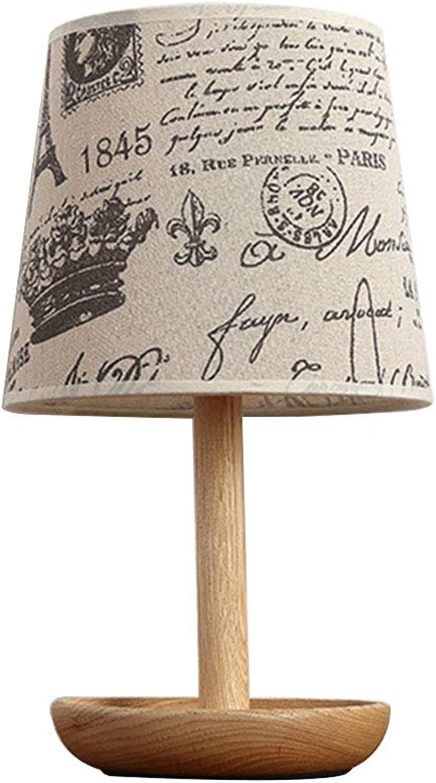 Tischlampe aus aus aus Holz,Leselicht Nachttischlampe Geschenk, Stehlampe Modern auf Tisch E27 Tuch Fassung für Wohnzimmer Kinderzimmer Schlafzimmer Esszimmer Beige 19  34cm B07PRC2PZY | Online Store  53a623
