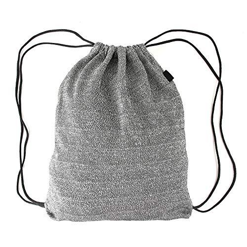 Sonew Tragbarer Rucksack mit Kordelzug, Reisesicherheitsrucksack aus PE-Qualität, diebstahlsicher für de und Frauen, grau