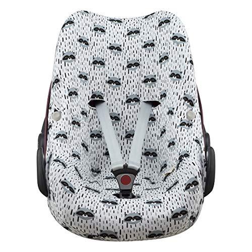 JANABEBE Baumwollbezug für Pebble Maxi Cosi, Bebe Confort (Raccoon)