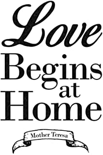 Mother Teresa Love Begins at Home Famous Motivational Inspirational Quote Cubicle Locker Mini Art Poster 8x12