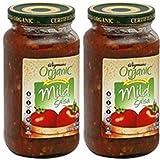 Wegmans Tomatoe Salsa - Mild - USDA Organic - 15.5 Oz. (2 Pack)