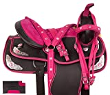 Acerugs 14 15 16 17 18 Western Pleasure Show Horse Saddle Light Weight Cordura Synthetic TACK (17)