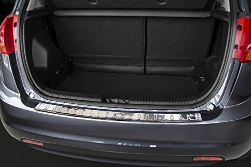 Avisa Protection de seuil arrière inox compatible avec Kia Venga Facelift 2014- 'Ribs'