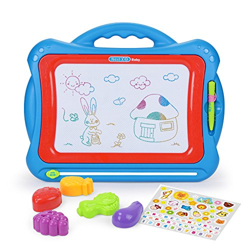 NextX Magnetic Drawing Board, Educational Writing and Learning Doodle Pad Creative Toy for Toddlers Boys Girls Age of 3, 4, 5, 6 Year Old,Toddler Large Erase Sketch Pad