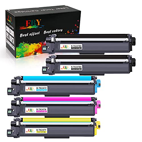 EBY TN247 TN-247 TN243 TN-243 Cartouches de Toner Compatible pour Brother DCP-L3550CDW HL-L3210CW MFC-L3750CDW MFC-L3770CDW HL-L3270CDW HL-L3230CDW MFC-L3710CW MFC-L3730CDN DCP-L3510CDW