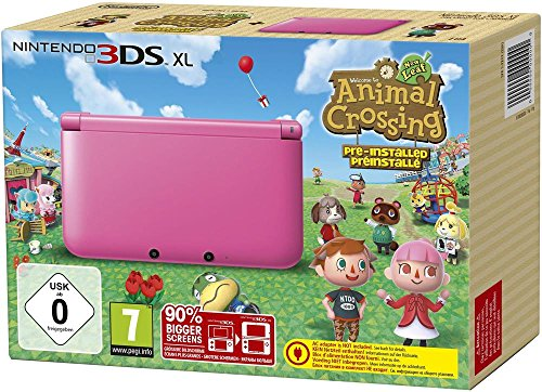 Nintendo 3DS XL - Konsole Pink inkl. Animal Crossing