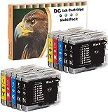 D&C 10x Druckerpatronen Kompatibel für Brother...