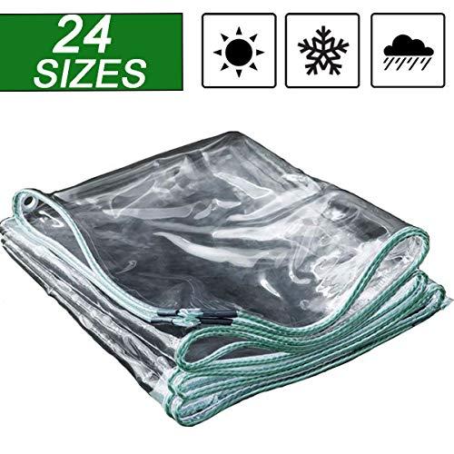NaDrn Lona de PVC, 500g/㎡ 0.5mm Impermeable Cubierta de Lona Transparente de Exterior Protección Extremadamente Resistente Lona Impermeable Plastico Polietileno Lonas,2mX3m/9.8x6.5ft