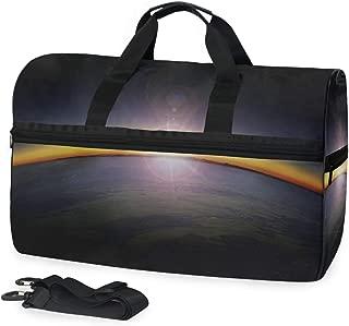 MONTOJ Sunrise Luggage Sporty Gear Bag One Size Travel Tote Duffel Duffle Bag with Adjustable Strap