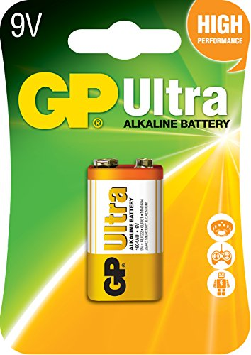 GP Piles alcalines Ultra compatible 9V/6LF22/6LR61/522 9V