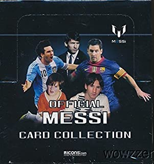 Lionel Messi Official Card Collection Factory Sealed 24 Pack Box with 120 Cards! All Cards Feature FC Barcelona World Champion Lionel Messi! Plus Chance to Win Messi Match-Worn Shirt worth $15,000 !!