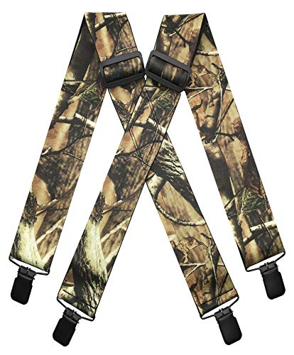 MENDENG Men's Camouflage Clip-End Suspenders 2' Strong Clips Heavy...