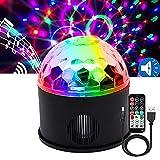 WANGZAI USB Luces Discoteca Luces DJ Stage Bola 9 Colores RGB Estroboscópicas Sound Activated Party Lights con Control Remoto Adecuado para La Fiesta De Bodas Cumpleaños Navidad Día De Los Niños