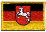 Flaggen Aufnäher Deutschland Niedersachsen Fahne Patch +