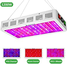 Exlenvce 1500W 1200W LED Grow Light Full Spectrum for Indoor Plants Veg and Flower,led Plant Growing Light Fixtures with Daisy Chain Function (Triple-Chips 15W LED)