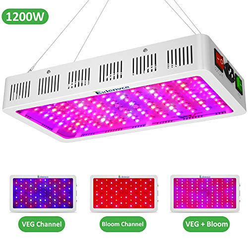 Exlenvce 1500W 1200W LED Grow Light Full Spectrum for Indoor Plants Veg and...
