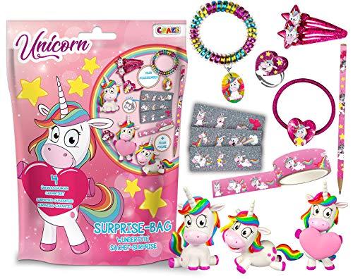Craze Surprise Bag Unicorn Einhorn Überraschungen Spiel-Figuren für Kinder Schulzubehör Wundertüte 12376