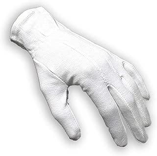1 Pair (2 gloves) Gloves Legend 100% White Cotton Marching Band Parade Formal dress gloves - Size Medium (Medium)