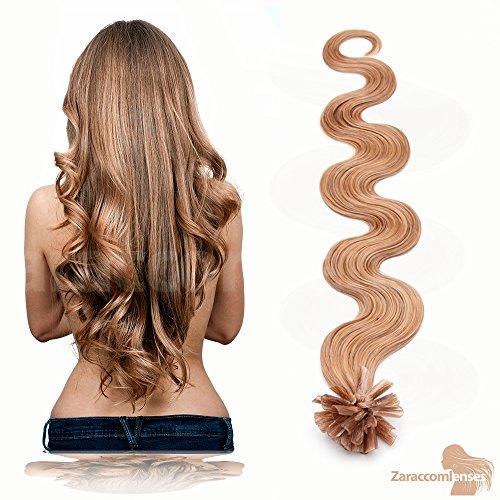 Kératine Hair Extensions de U Tip en 17 Blond cendré foncé – 100% Cheveux Naturels Remy Mèches de 50 cm de T3000 Poids des cheveux