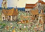 LLXPDZ Bauernhof-Puzzle, 1000 Teile, Holz-Puzzle, einzigartiger Schnitt, ineinandergreifende Teile, Kinder, Lern-Puzzles Spielzeug