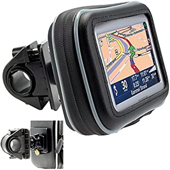 Arkon Bike or Motorcycle Handlebar Mount with Water-Resistant Holder for 4.3-inch Screen Size Garmin TomTom Magellan GPS GPS032