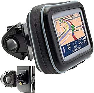 """ChargerCity Universal Motorcycle/Bike Mount with Water Resistant Case for 5"""" inch GPS Garmin Nuvi Drive DriveSmart 50 51 5..."""
