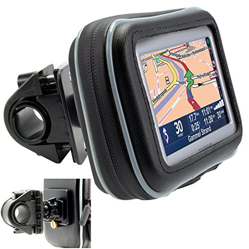 """ChargerCity 5"""" Screen Water Resistant GPS Case w/Security Screw Heavy Duty Bike Motorcycle Handle Bar Mount for Garmin Drive Smart Assist Nuvi 58 57 56 55 52 51 50 2589 2597 LM LMT Tomtom GO Via GPS"""