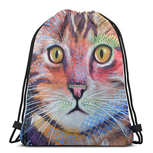 Lawenp Pink Floral Unisex Outdoor Rucksack Shoulder Bag Travel Drawstring Backpack Bag