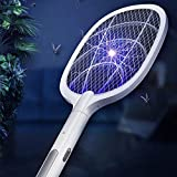 PaxMore Rechargeable Electric Mosquito Killer Bug Zapper Fly Swatter Mosquito Racket for Indoor