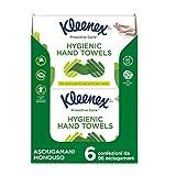 Kleenex Proactive Care Asciugamani Usa e Getta, 596 Asciugamani - 6 Pacchi da 96 Asciugamani