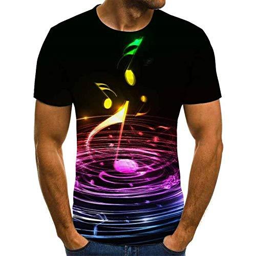 T-Shirt T-Shirt Herren Musik T-Shirt 3D Gitarre T-Shirt Shirt Druck Kleidung Kurzarm T-Shirt M Txu-2110