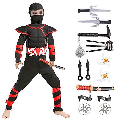 Halloween Ninja Costume for Boys Kids (Medium(4-6Y))