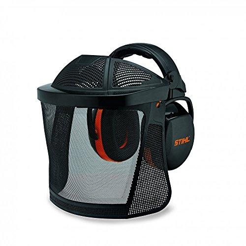 Stihl 0000 884 0566 Gesichts Nylon Gesichtsschutz Gehörschutz kurz, Nylongitter, mit Stirnschutz
