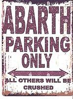 駐車場作業車 金属板ブリキ看板警告サイン注意サイン表示パネル情報サイン金属安全サイン