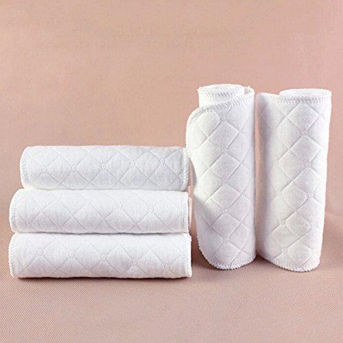 10 Stück wiederverwendbare Babywindeln Stoffwindel Weiche Baumwolle windel Einlagen Waschbare Infant Urin Pad Blatt Weiß
