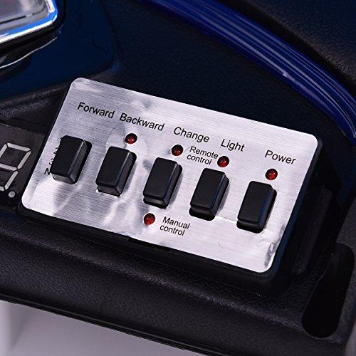 RC Auto kaufen Kinderauto Bild 5: COSTWAY 2.4G Elektroauto Kinderauto Elektrofahrzeug Kinderfahrzeug Elektro Auto Zwei Motor mit Fernbedienung und Musik (Weiß)*
