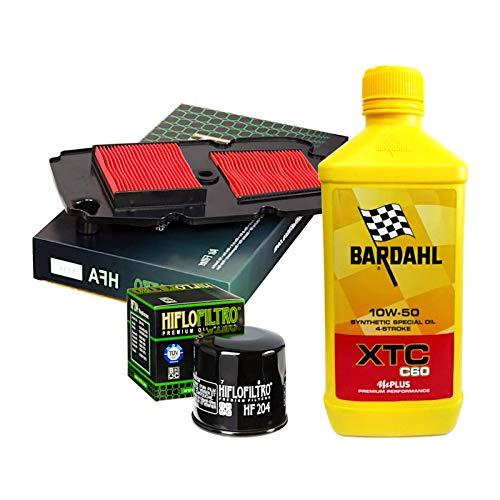 Kit tagliando Bardahl XTC C60 10W50 filtro olio aria XL 700 V Transalp