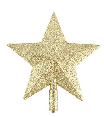 Chytaii Estrella para Árbol de Navidad Estrella Dorada Decoración Adorno del Árbol de Navidad Decoración...