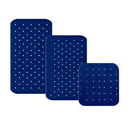 casa pura Tapis de Fond de Bain Relax antidérapant Bleu foncé | pour Douche, 3 Tailles | sans PVC/Latex, antiglisse | 63x37cm