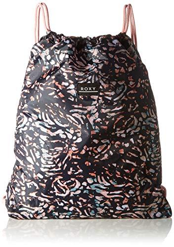 Roxy Light AS A Feather Printed, Bolsa de gimnasio o mochila. para Mujer, True Black Izi, Medium