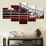 TXTYUMR Templos japoneses Imagen de Paisaje Lienzo Arte Rojo Abeto decoración del hogar Pintura para Sala de Estar Dormitorio decoración de Pared sin Marco