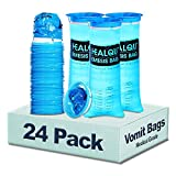 Hospital Vomit Bags - Car Throw Up Bag - for Airsick Travel & Motion Sickness - Leak Resistant Medical Grade Puke Bag - Disposable Barf Bags Throw Up, Nausea, 1000ml (24 Pack)