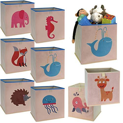 LS-LebenStil Kinder Aufbewahrungsbox Qualle Spielzeugkiste faltbar 32cm Kiste Schublade Spielzeug Aufbewahrungswürfel