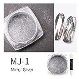 Polvere per glitter oro e argento Specchio per placcatura in polvere Polvere per specchio ...