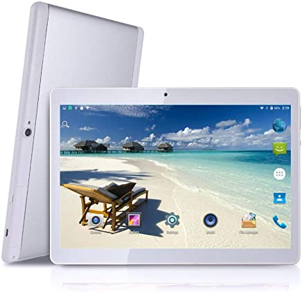 $119 Get MRMAODOU 3G Unlocked Android Tablet 10 inch with Dual SIM Card Slots Octa Core 4GB RAM 64GB ROM Phablet Built in WiFi GPS Phone Call Phablet (White with Silver)