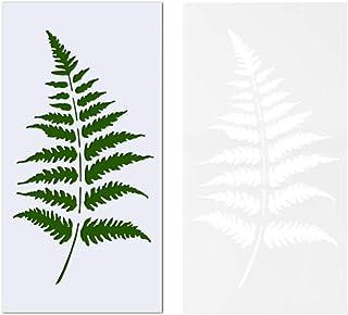 أونتينيس 5 قطع ورقة استنسل البلاستيك نبات ورقة الاستنسل لخشب قماش اللوحة الأثاث جدار ديكور المنزل الأبيض