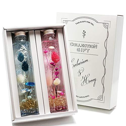 ハーバリウム ( ピンク × ブルー ) 2本セット ギフト箱入 プレゼント 母の日 などに最適です