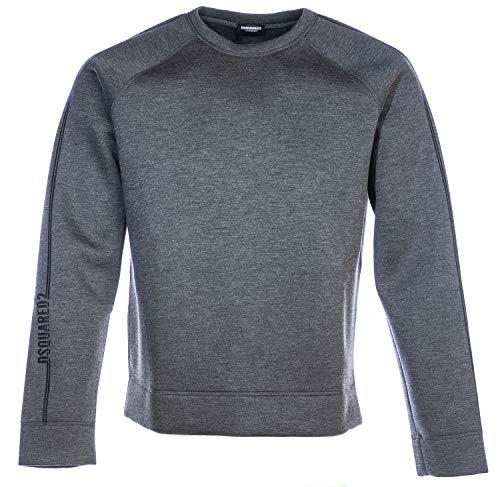 DSQUARED2 Neoprene Stripe Crew Sweat Top in Grey | Hoodies Pullover Long Sleeve Jumpers Hooded Top Sweatshirt